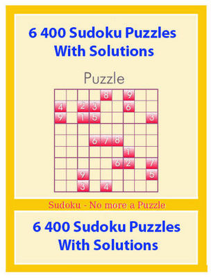 Product picture 6400 Sudoku Puzzles With Solutions